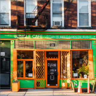 jungle cafe vegan restaurant near greenpoint landing brooklyn two blue slip apartments