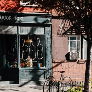 dukes liquor box store greenpoint near two blue slip apartments